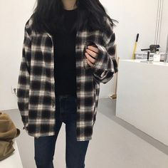 Attractive And Stylish Fall Outfits For The Perfectly Trendy Look - Wonderf. - Attractive And Stylish Fall Outfits For The Perfectly Trendy Look – Wonderful Tomboy Style P - Tomboy Outfits, Mode Outfits, Grunge Outfits, Cute Casual Outfits, Fall Outfits, Plaid Fashion, Tomboy Fashion, Look Fashion, Trendy Fashion