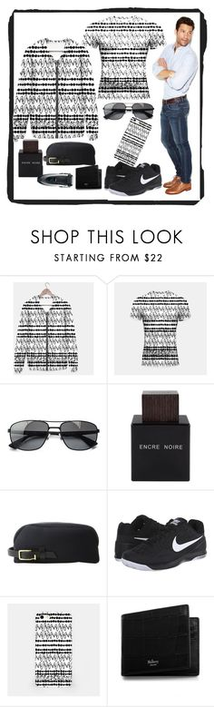 """""""Be bold"""" by andersonartstudio ❤ liked on Polyvore featuring Ray-Ban, Lalique, MIANSAI, NIKE, Mulberry, Braun, men's fashion, menswear, hoodie and pattern"""