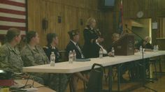 Women in the military were recognized tonight as they discussed their deployment overseas.