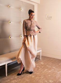 Cote Poses in the Dior Institute