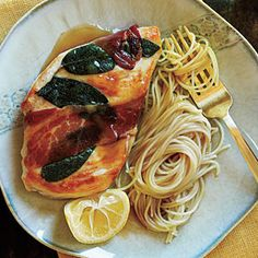 Superfast Italian Recipes | Lemony Chicken Saltimbocca |