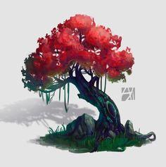 ArtStation - fantasy tree, Alexandra Pulinets