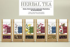 Herbal Teas – 8 of The Best for Better Health Spices Packaging, Tea Packaging, Dessert Packaging, Tee Design, Cover Design, Design Art, Graphic Design, Organic Herbal Tea, Herbal Teas