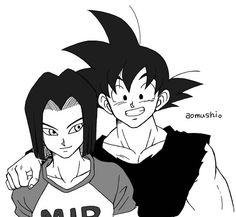 Goku and Android 17