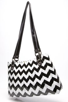 """14"""" x 9"""" x 3.5"""" shoulder bag made from gum and candy wrappers."""