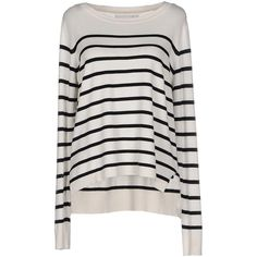 Only Jumper ($33) ❤ liked on Polyvore featuring tops, sweaters, ivory, long sleeve jumper, ivory top, long sleeve sweaters, lightweight sweaters and jumper top