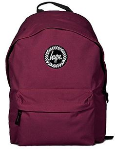 Hype Backpack Rucksack Bag Burgundy