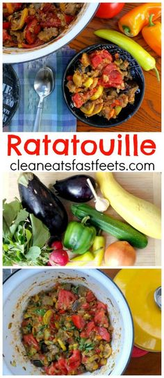 A savory stew of late summer produce, which pairs perfectly with your pasta of choice. Make Ahead Meals, Easy Family Meals, Quick Meals, Family Recipes, Vegetarian Recipes, Healthy Recipes, Healthy Meals, Delicious Recipes, Ratatouille Recipe