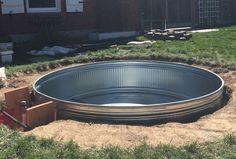 Hot Tub Backyard, Small Backyard Pools, Backyard Patio Designs, Swimming Pools Backyard, Backyard Landscaping, Backyard Decks, Stock Pools, Stock Tank Pool, Water Tub
