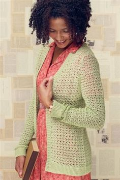 This crochet cardigan would be great for fall. My Favorite Crochet Lace Patterns - Crochet Daily - Blogs - Crochet Me