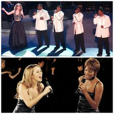 Two iconic duets! 'One Sweet Day' with Boyz II Men and 'When You Believe' with Whitney Houston.