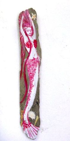 Original  Mermaid Painting on Drift Wood by oceangirlcollection, $18.00