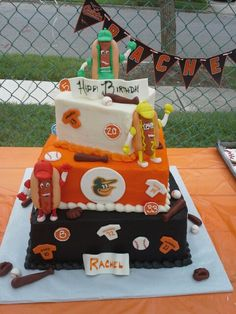 For the Baltimore Orioles Cakes by Sugarbakers Cakes Pinterest