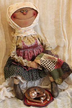 Купить Шила бабушка внучатам... - комбинированный, текстильная кукла, ароматизированная кукла, интерьерная кукла, бабушка