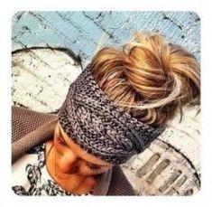 GREY Knitted Headband - Plain Cable Knit Headband - Gray Ear Warmer Headband head bands Hair Coverings Ready to Ship from three bird nest. Headband Pattern, Knitted Headband, Bandanna Headband, Headband Styles, How To Wear Headbands, Bohemian Headband, Ear Warmer Headband, Knit Fashion, Style Fashion