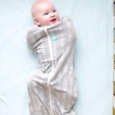 ErgoCocoon| Organic swaddle and sleeping bag | Grey Fern | 1.0 tog