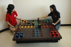 LUDO GAME, OUTDOOR VERSION, BY DILEMMA GAMES FACTORY, THAILAND