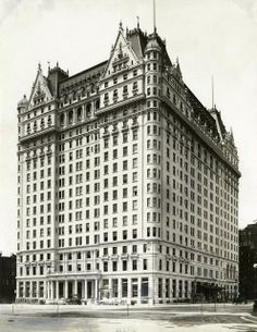 HOTEL: Daytonian in Manhattan: The Iconic Plaza Hotel   On October 1, New York's Plaza Hotel opens on the Grand Army Plaza, just south of Central Park. It was built on top of a site that was occupied before by the Vanderbilt mansion.