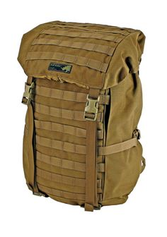 """Kifaru Loco -  designed as a short to medium range patrol pack. Our bellowed slot pocket design allows the slot pockets to lay totally flat for a narrow profile.  These slot pockets can be accessed immediately without having to get into the bag. With the 19"""" frame, you can remove the waistbelt and stays and shoulder carry it above a belt kit. The Loco is pack simple, with no zippers and top load only. $400"""