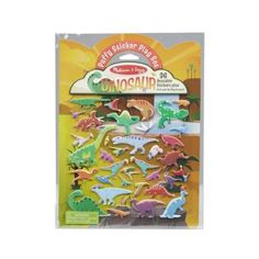 Puffy Sticker Play Set – Dinosaur $4.99  Reusable fold-and-go puffy sticker play set with a prehistoric/dinosaur theme Includes 36 reusable dinosaur puffy stickers plus glossy fold-and-go play scenes Double-sided glossy background with watering hole and waterfall scenes to fill again and again; convenient carrying handle–perfect travel activity for families on the go Great for fine motor skills, hand-eye coordination, creative expression, narrative thinking, and independent play Kite Shop, Puzzle Shop, Les Cascades, Travel Toys, Developmental Toys, Melissa & Doug, Gifts For Girls, Kids Gifts, Gaming