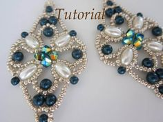 This tutorial includes a pdf file detailed step-by-step written instructions with photo for visual help. PROJECT SKILL LEVEL: intermediate LANGUAGE: English  This is a tutorial only. No beads and no finished product are included in this sale.  Once payment is confirmed you will get an email with the link for download your pattern. If any problem occurs, please be free contact me and I will send you the tutorial by email as soon as possible.  Materials list: 4mm \3mm Swarovski pearls 4mm…