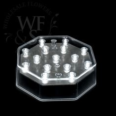 "4"" Illuminating 15 Clear LED Centerpiece Light Base - WholesaleFlowersAndSupplies.com"