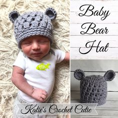 Teddy Bear Hat which is so adorable !! Perfect Hat for the hospital stay and for coming home !! Available in many sizes !! Wonderful Photography Prop as well as a unique Baby Shower Gift ! Be sure to visit my shop for the cutest crochet creations ever !! Many items ready to ship !!