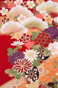 Love the colors. Japanese Textiles, Japanese Patterns, Japanese Prints, Japanese Design, Japanese Paper, Japanese Fabric, Japanese Kimono, Oriental Print, Oriental Pattern