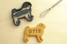 Pug Cookie Cutter Custom Treat Personalized Pet by NameThatCookie, $17.00