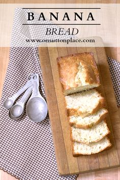 Super simple recipe for homemade Banana Bread that uses basic pantry ingredients and is so moist it melts in your mouth!