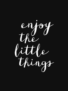 Typography Art Enjoy the Little Things Wall by TheMotivatedType