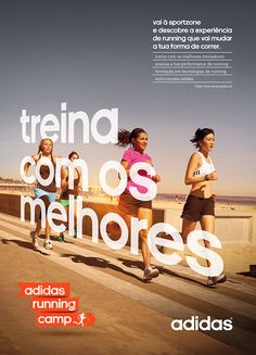 Poster and billboard for Adidas Running Camp