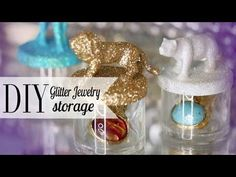 ▶ DIY Glitter Animal Jewelry Storage | Chic Room Decor ANNEORSHINE - YouTube