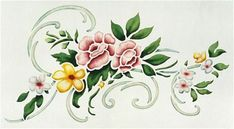 Small Floral Damask by Jeff Raum Damask Wall Stencils, Fabric Paint Designs, Floral Border, Label Design, Rose, Flower Art, Overlays, Painted Furniture, Diy And Crafts