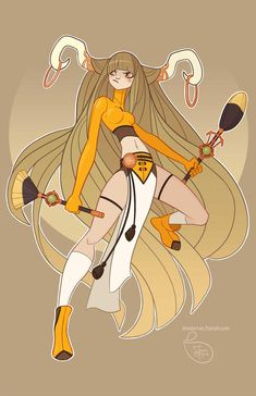 Character Design - Taurus by MeoMai on DeviantArt Zodiac Art, Zodiac Signs, 12 Zodiac, Character Illustration, Illustration Art, Mobius Final Fantasy, Instagram Prints, Drawing Reference Poses, Warrior Princess