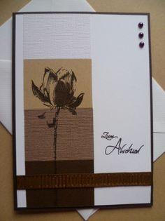 Trauer & Beileid - Trauerkarte mit Umschlag - ein Designerstück von bastelino-kerpen bei DaWanda