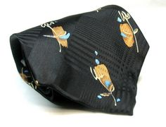 Hugo Boss Silk Necktie Tie Abstract Floral on Black Jacquard Bkgrnd NWT $85.00 #HUGOBOSS #NeckTie