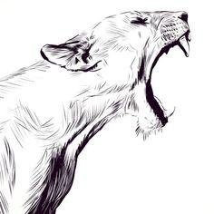 León rugiendo
