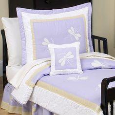 Shop for Sweet Jojo Designs Girl Purple Dragonfly Toddler 5-piece Comforter Set…