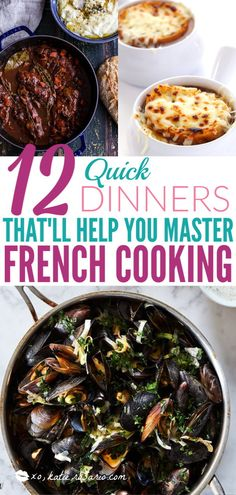 12 Quick French Recipes for Mastering French Cooking - XO, Katie Rosario 12 Quick Dinners That'll Help You Master French Cooking Traditional French Recipes, Classic French Dishes, French Food, French Recipes Dinner, Easy Dinner Recipes, Easy Dinners, Lunch Recipes, Gourmet Recipes, Healthy Recipes