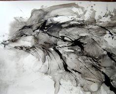 Dire Wolf Forest Spirit Original Artwork by Erin C Potter