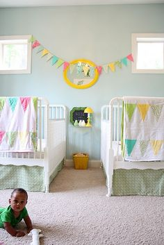 Shared spaces - I wish I could purchase those quilts!  But they are handmade!  I need a twin and a full!