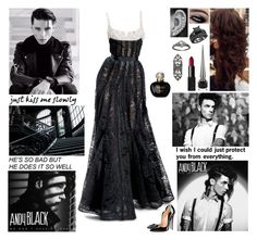 """""""✖ We don't have to talk. We don't have to dance. We don't have to smile. We don't have to make friends. It's so nice to meet you, let's never meet again. We don't have to talk. We don't have to dance. ✖"""" by blueknight ❤ liked on Polyvore featuring Elie Saab, Christian Louboutin, NARS Cosmetics, Ela Stone and Christian Dior"""