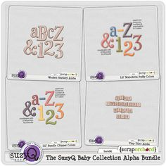 The SuzyQ Baby Collection Alpha Bundle by SuzyQ Scraps