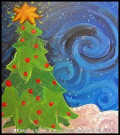 CHRISTMAS TREE SWIRL at Saratoga Paint & Sip Studio