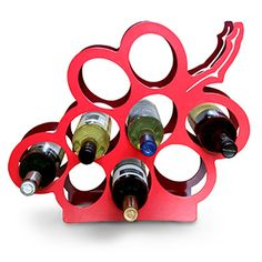 J-me Grape Wine Rack In Two Tone Red To Store Up