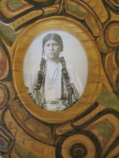 Native American Photo Frame Resin-based by NowAndThenConnection