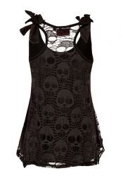 With a better material this would be a wardrobe staple... Looks a little to crochet/lace-ish fer me
