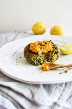 "Vegetarian pesto ""tuna"" cakes by como.come.cami"