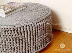 Handmade crochet pouf  model CATANIA  www.renatanekrasz.com